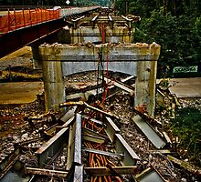 Huguenot Bridge is falling down, falling down!  by daveknowshow