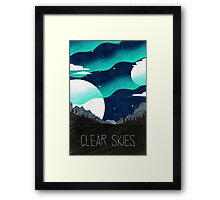 Tamriel Shout - Clear Skies Framed Print