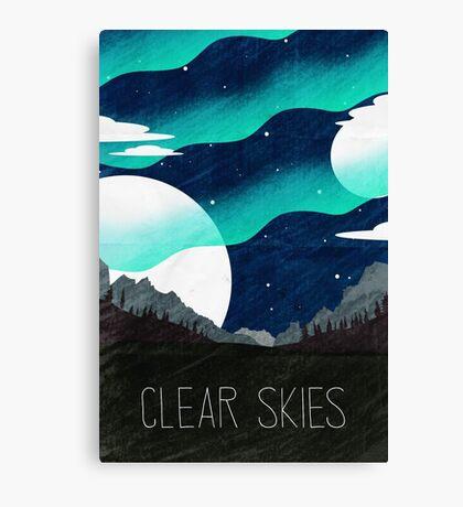Tamriel Shout - Clear Skies Canvas Print