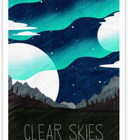 Tamriel Shout - Clear Skies Sticker