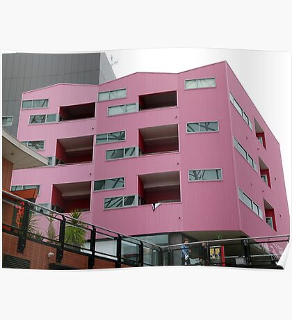 Cubism in Pink Poster