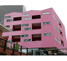 Cubism in Pink Photographic Print