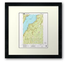 USGS Topo Map Washington State WA Holly 241557 1953 24000 Framed Print