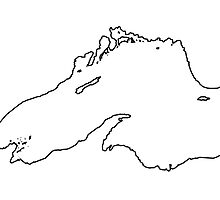 Lake superior outline by Sydney Watson