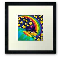 Shooting Star Widow Framed Print