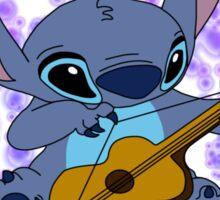 Stitch playing the guitar Sticker