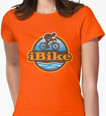 iBike - to work and home Womens Fitted T-Shirt
