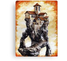 Lost City - Staircase spiral of Church Canvas Print