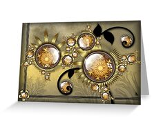 Twisted with Gold Greeting Card