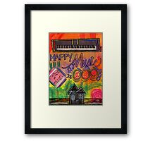 House of Happy Music Framed Print