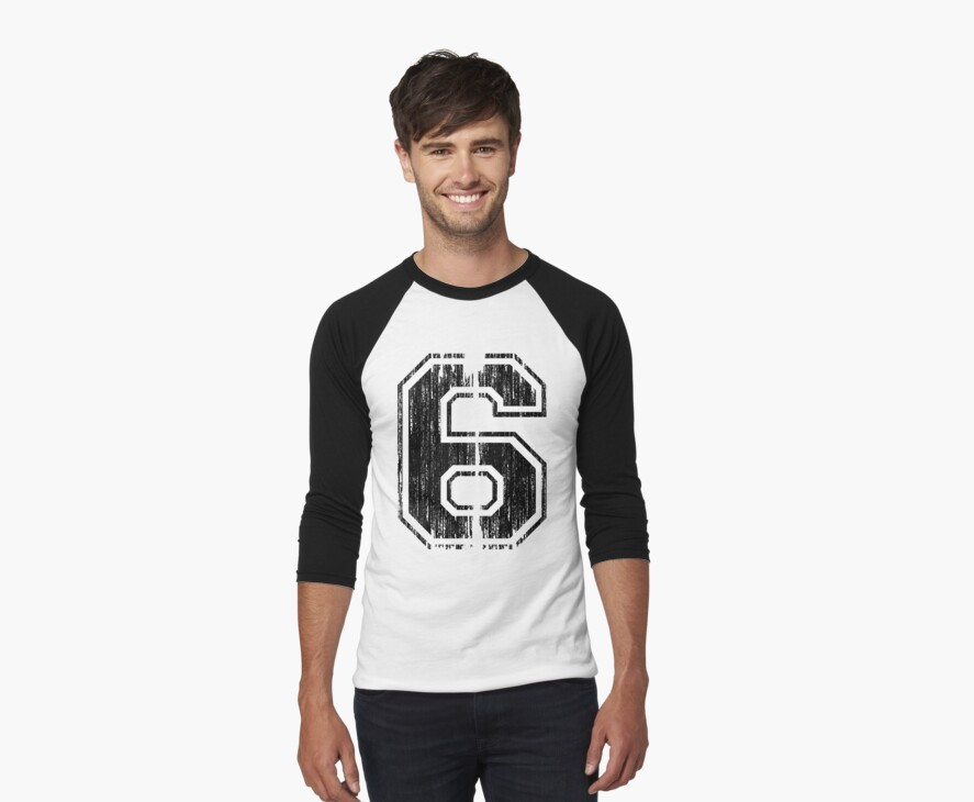 Bold Distressed Sports Number 6 by adamcampen