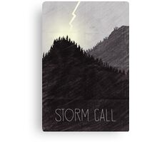 Tamriel Shout - Storm Call Canvas Print
