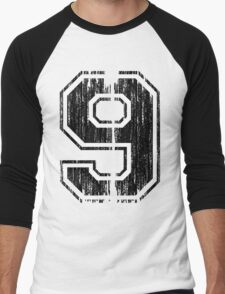 Bold Distressed Sports Number 9 T-Shirt