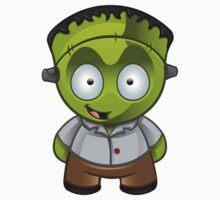 Frankenstein Monster Boy Grinning by DesignWolf