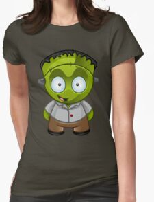 Frankenstein Monster Boy Grinning Womens Fitted T-Shirt