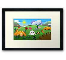 Happy Colorful Planet 01 Framed Print