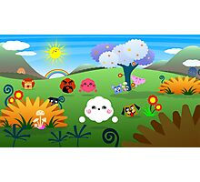 Happy Colorful Planet 01 Photographic Print