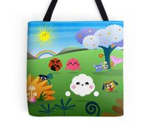 Happy Colorful Planet 01 Tote Bag