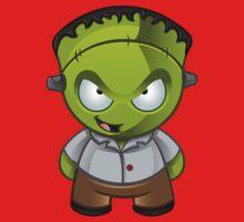 Frankenstein Monster Boy Naughty Grin Kids Clothes