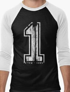 White Distressed Sports Number 1 T-Shirt