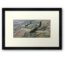 Hawker Hurricanes from 303rd RAF Squadron on patrol. Framed Print