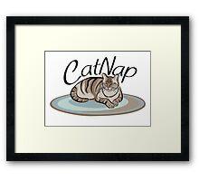 Cat Nap Framed Print