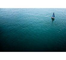 Lone Sailboat Photographic Print