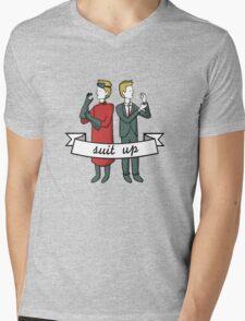 Suit Up Mens V-Neck T-Shirt