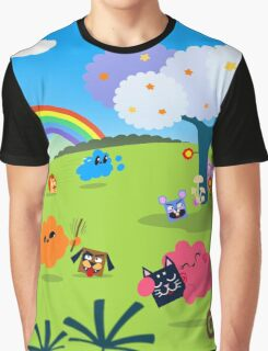 Happy Colorful Planet 02 Graphic T-Shirt