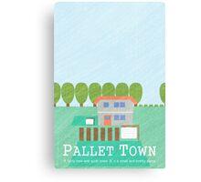 Pallet Town Print Canvas Print