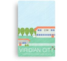 Viridian Town Print Canvas Print