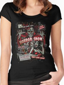 Spook Show Horror movie Monsters  Women's Fitted Scoop T-Shirt