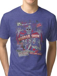 Spook Show Horror movie Monsters  Tri-blend T-Shirt