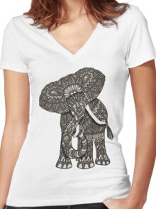 2015 Elephant Women's Fitted V-Neck T-Shirt