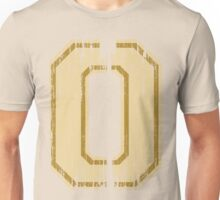 Vintage Distressed Sports Number 0 Unisex T-Shirt