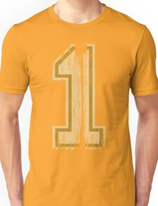 Vintage Distressed Sports Number 1 Unisex T-Shirt