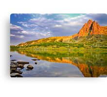 sunset reflection of the peak Canvas Print