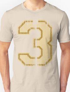 Vintage Distressed Sports Number 3 T-Shirt