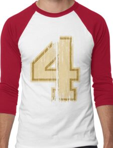 Vintage Distressed Sports Number 4 Men's Baseball ¾ T-Shirt