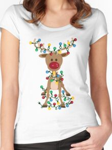 Adorable Reindeer Women's Fitted Scoop T-Shirt