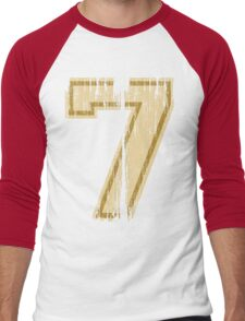Vintage Distressed Sports Number 7 Men's Baseball ¾ T-Shirt