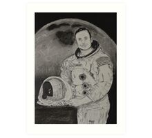 Neil Armstrong Drawing Art Print