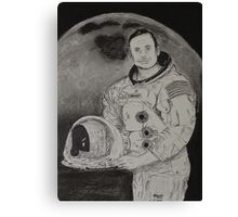 Neil Armstrong Drawing Canvas Print