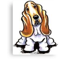 Basset Hound Sit Stay Canvas Print