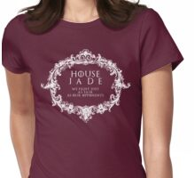 House Jade (white text) Womens Fitted T-Shirt