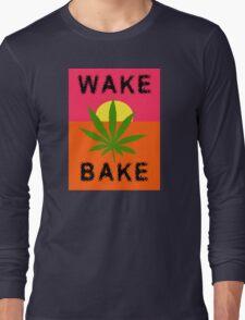 Wake & Bake Marijuana Long Sleeve T-Shirt
