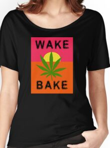 Wake & Bake Marijuana Women's Relaxed Fit T-Shirt
