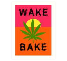 Wake & Bake Marijuana Art Print