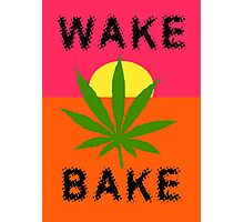 Wake & Bake Marijuana Photographic Print