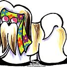 Lhasa Apso Hippie by offleashart